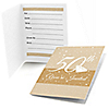 50th Anniversary - Fill In Wedding Anniversary Invitations - 8 ct