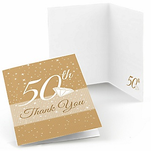 50th Anniversary - Wedding Anniversary Thank You Cards - 8 ct
