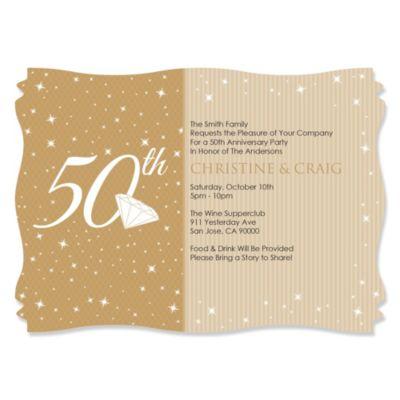 50th Anniversary Personalized Wedding Anniversary Invitations