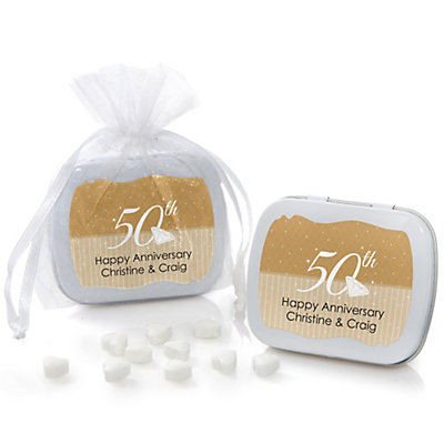 25th Anniversary Personalized Wedding Mint Tin Favors Dotofhiness