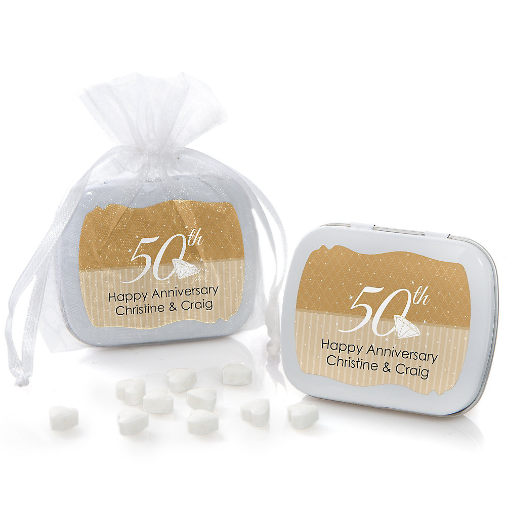 25th Anniversary - Personalized Wedding Anniversary Mint Tin Favors ...