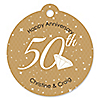 50th Anniversary - Round Personalized Anniversary Tags - 20 ct
