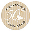 50th Anniversary - Personalized Wedding Anniversary Sticker Labels - 24 ct