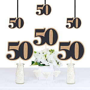 50th Milestone Birthday - Dashingly Aged to Perfection - Decorations DIY Party Essentials - Set of 20