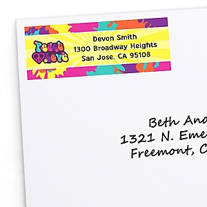 60's Hippie - Personalized 1960s Groovy Party Return Address Labels - 30 ct