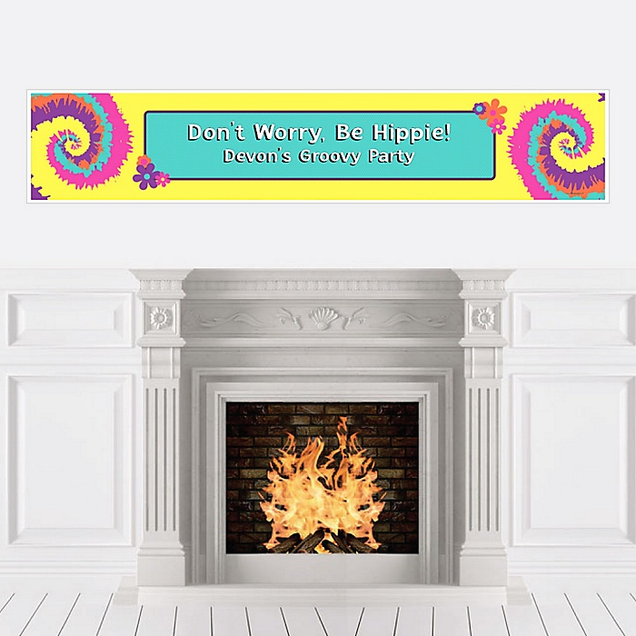 60's Hippie - Personalized 1960s Groovy Party Banner