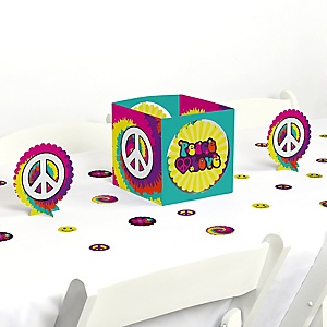 60's Hippie - 1960s Groovy Party Centerpiece and Table Decoration Kit