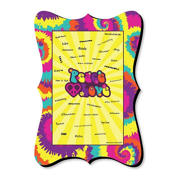 60's Hippie - Unique Alternative Guest Book - 1960s Groovy Party Signature Mat