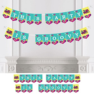 60's Hippie - Personalized 1960s Groovy Party Bunting Banner & Decorations