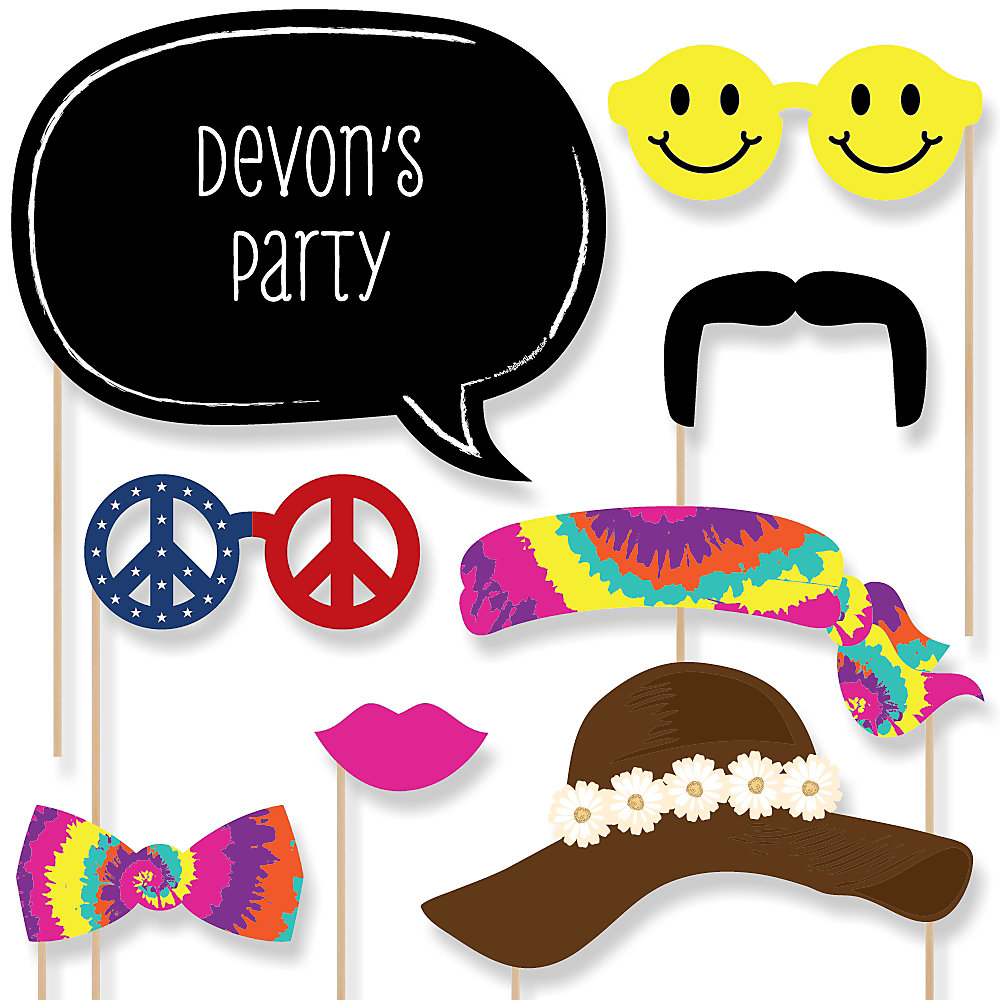 60\'s Hippie Party | BigDotOfHappiness.com