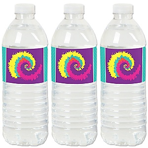 60's Hippie - 1960s Groovy Party Water Bottle Sticker Labels - Set of 20