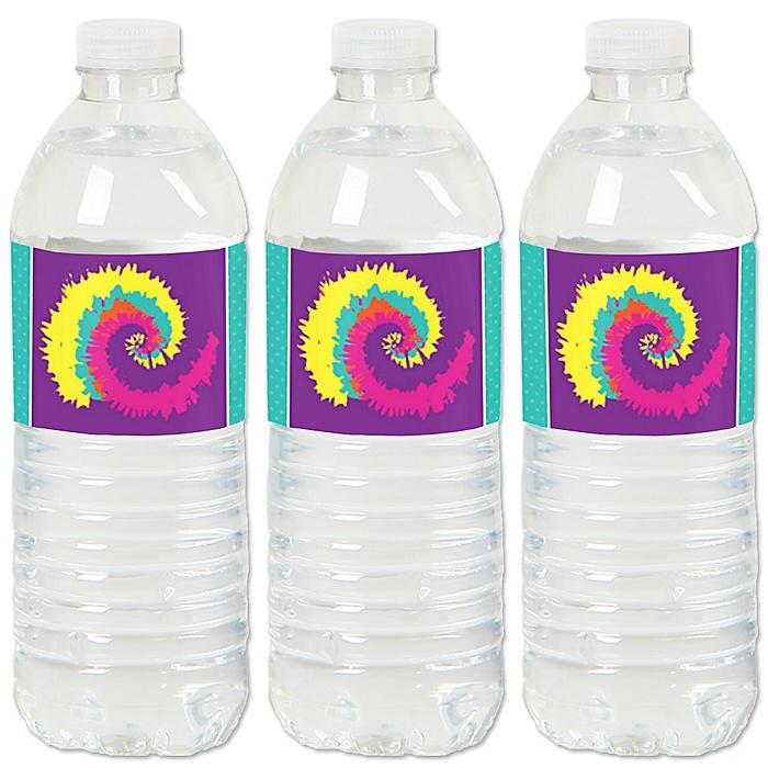 60's Hippie - 1960s Groovy Party Water Bottle Sticker Labels - Set of 20