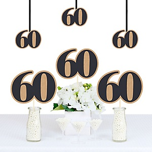 60th Milestone Birthday - Dashingly Aged to Perfection - Decorations DIY Party Essentials - Set of 20