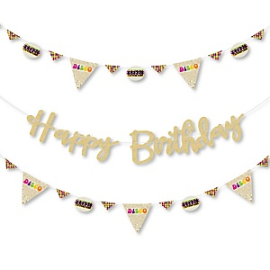 70's Disco - 1970s Disco Fever Birthday Party Letter Banner Decoration - 36 Banner Cutouts and Happy Birthday Banner Letters
