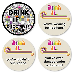 70's Disco - Drink If 1970s Party Game - Set of 24