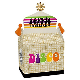 70's Disco - Treat Box Party Favors - 1970s Disco Fever Party Goodie Gable Boxes - Set of 12