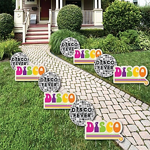 70's Disco - 1970s Lawn Decorations - Outdoor Yard Art Decorations - 10 Piece