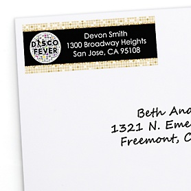 70's Disco - Personalized 1970s Disco Fever Party Return Address Labels - 30 ct