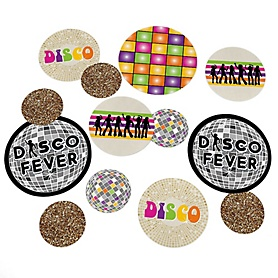 70's Disco - 1970s Giant Circle Confetti - Seventies Party Decorations - Large Confetti 27 Count