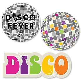 70's Disco - DIY Shaped 1970s Party Cut-Outs - 24 ct