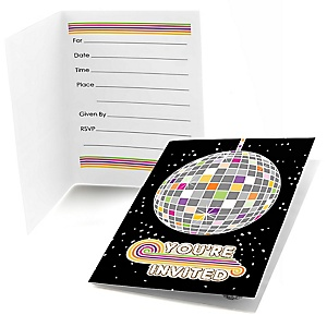 70's Disco - Set of 8 Fill In 1970s Party Invitations