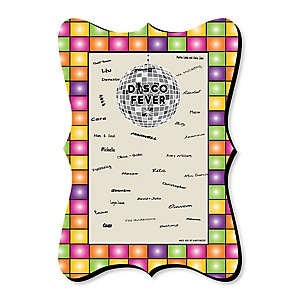 70's Disco - Unique Alternative Guest Book - 1970s Disco Fever Party Signature Mat