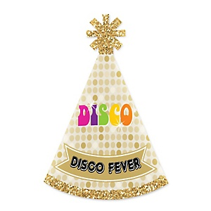 70's Disco - Personalized Mini Cone 1970s Disco Fever Party Hats - Small Little Party Hats - Set of 10