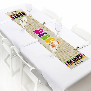 "70's Disco - Personalized Petite 1970s Party Table Runner - 12"" x 60"""