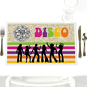70's Disco - Party Table Decorations - 1970s Disco Fever Party Placemats - Set of 12
