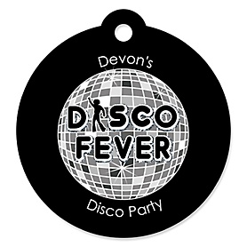 70's Disco - Personalized 1970s Party Gift Tags - 20 ct