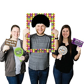 70's Disco - Personalized 70's Party Selfie Photo Booth Picture Frame & Props - Printed on Sturdy Material