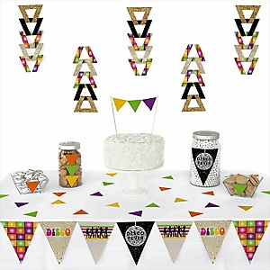 70's Disco -  Triangle 1970s Disco Fever Party Decoration Kit - 72 Piece