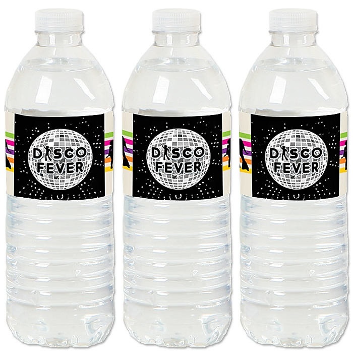 70's Disco - 1970s Disco Fever Party Water Bottle Sticker Labels - Set of 20