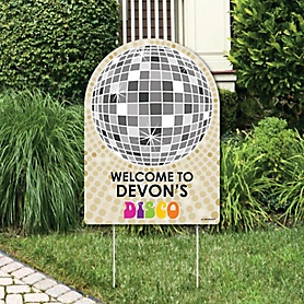 70's Disco - Party Decorations - 1970s Party Personalized Welcome Yard Sign