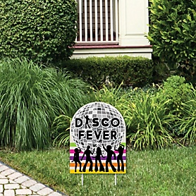 70's Disco - Outdoor Lawn Sign - 1970s Disco Fever Party Yard Sign - 1 Piece