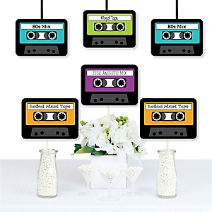 80's Retro - 1980s Decorations DIY Paper Cassette Tape Party Essentials - Set of 20
