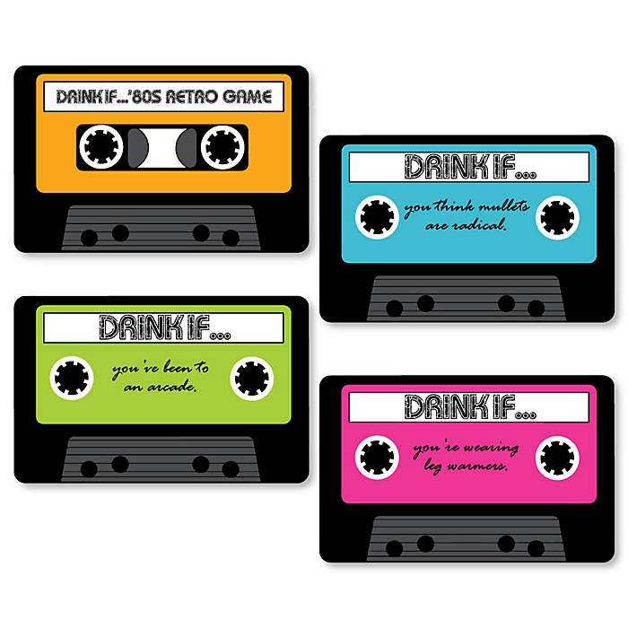 80's Retro - Drink If Totally 1980s Party Game - Set of 24