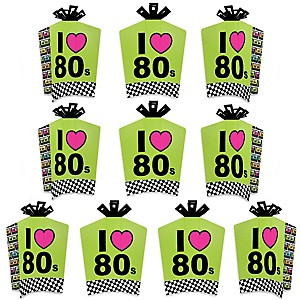 80's Retro - Table Decorations - Totally 1980s Party Fold and Flare Centerpieces - 10 Count