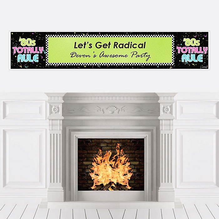 80's Retro - Personalized Totally 1980s Party Banner