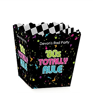 80's Retro - Party Mini Favor Boxes - Personalized Totally 1980s Party Treat Candy Boxes - Set of 12