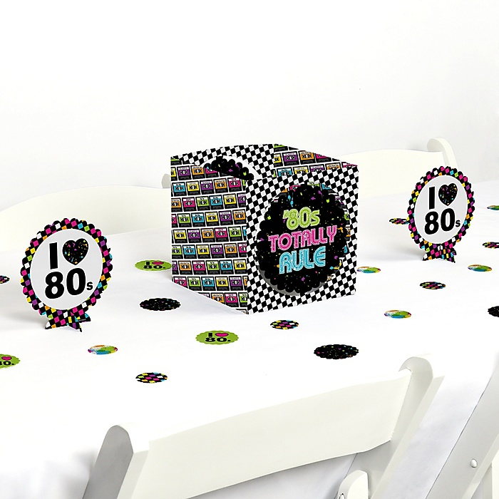 80's Retro - Totally 1980s Party Centerpiece and Table Decoration Kit