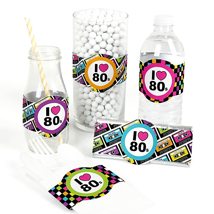 80's Retro - DIY Party Supplies - Totally 1980s Party DIY Party Favors & Decorations - Set of 15