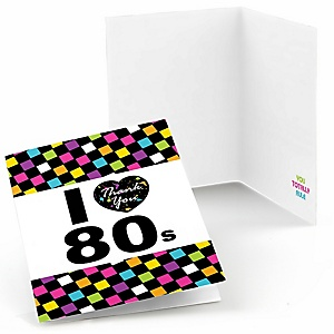 80's Retro - Set of 8 Totally 1980s Party Thank You Cards