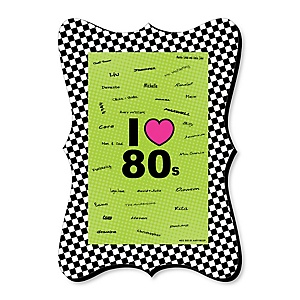 80's Retro - Unique Alternative Guest Book - Totally 1980s Party Signature Mat