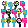 80's Retro - Totally 1980s Party Paddle Photo Booth Props – Selfie Photo Booth Props – Set of 14