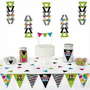 80's Retro -  Triangle Totally 1980s Party Decoration Kit - 72 Piece
