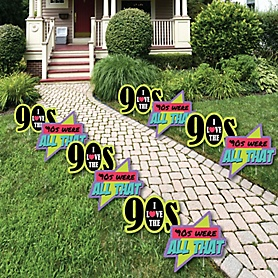 90's Throwback - 1990s Lawn Decorations - Outdoor Yard Art Decorations - 10 Piece