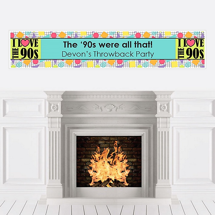 90's Throwback - Personalized 1990s Party Banner