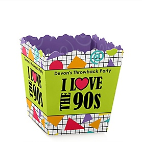 90's Throwback - Party Mini Favor Boxes - Personalized 1990s Party Treat Candy Boxes - Set of 12