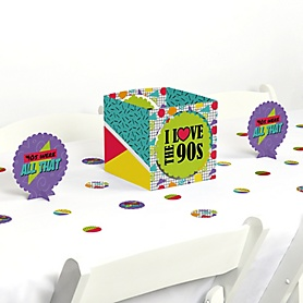 90's Throwback - 1990s Party Centerpiece and Table Decoration Kit